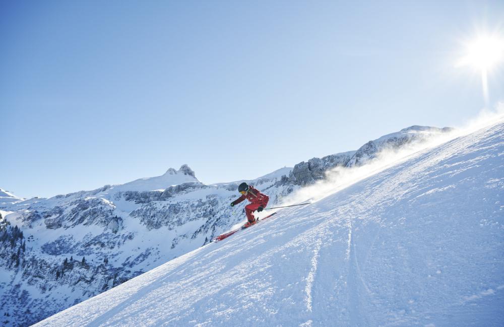 Skifahren Damüls